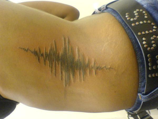 sound wave tattoo -