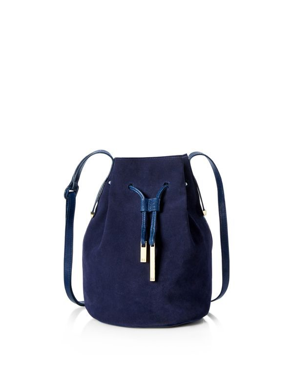 9d15edbded9b Halston Heritage Suede and Leather Bucket Bag