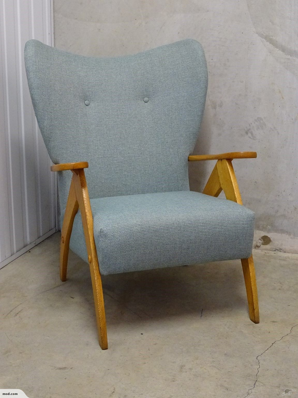 Jon jansen atomic wing back scissor leg chair trade me
