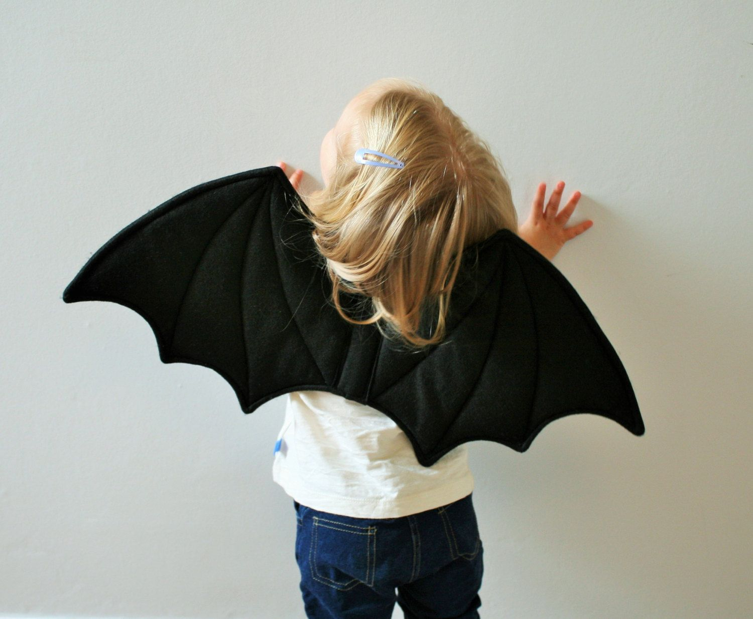 childrens bat wings halloween costume fancy dress costume dressing up black felt quality uk handmade kids toddlers girls boys 2100 gbp by