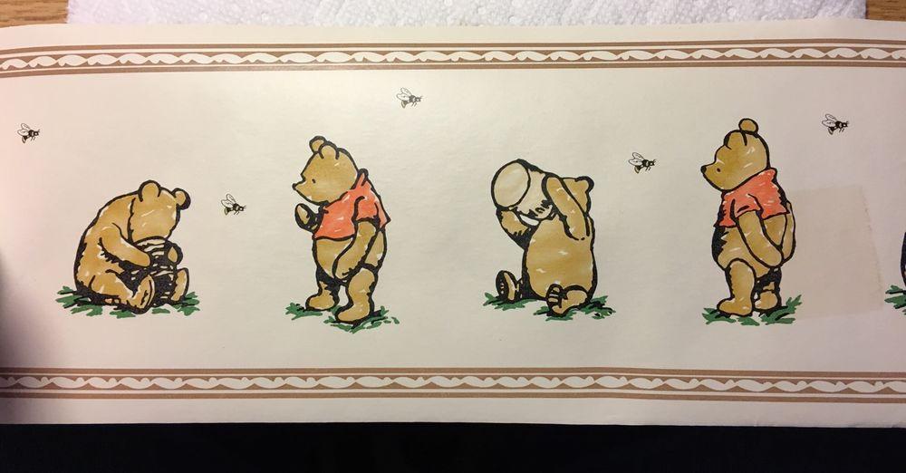 Winnie the Pooh Vintage Wallpaper Border 15 Yards Village