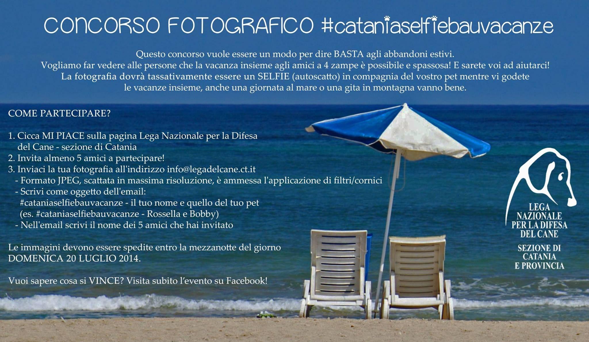 #Concorso #fotografico #benefit organizzato dalla #LegadelCane di #Catania #selfie
