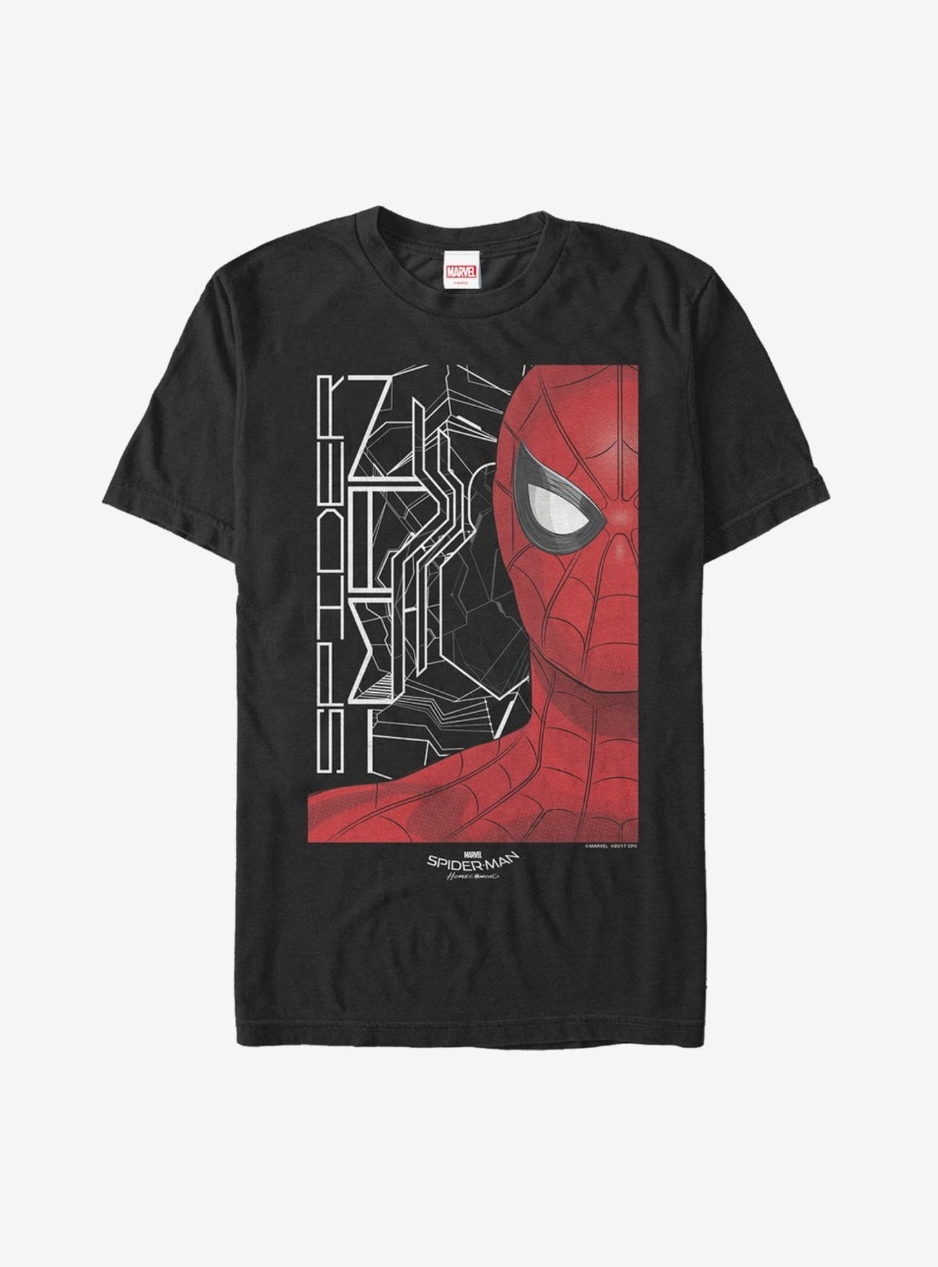 Marvel Spider Man Homecoming Face T Shirt Spiderman Homecoming T Shirt Spiderman Marvel Spiderman [ 1836 x 1360 Pixel ]