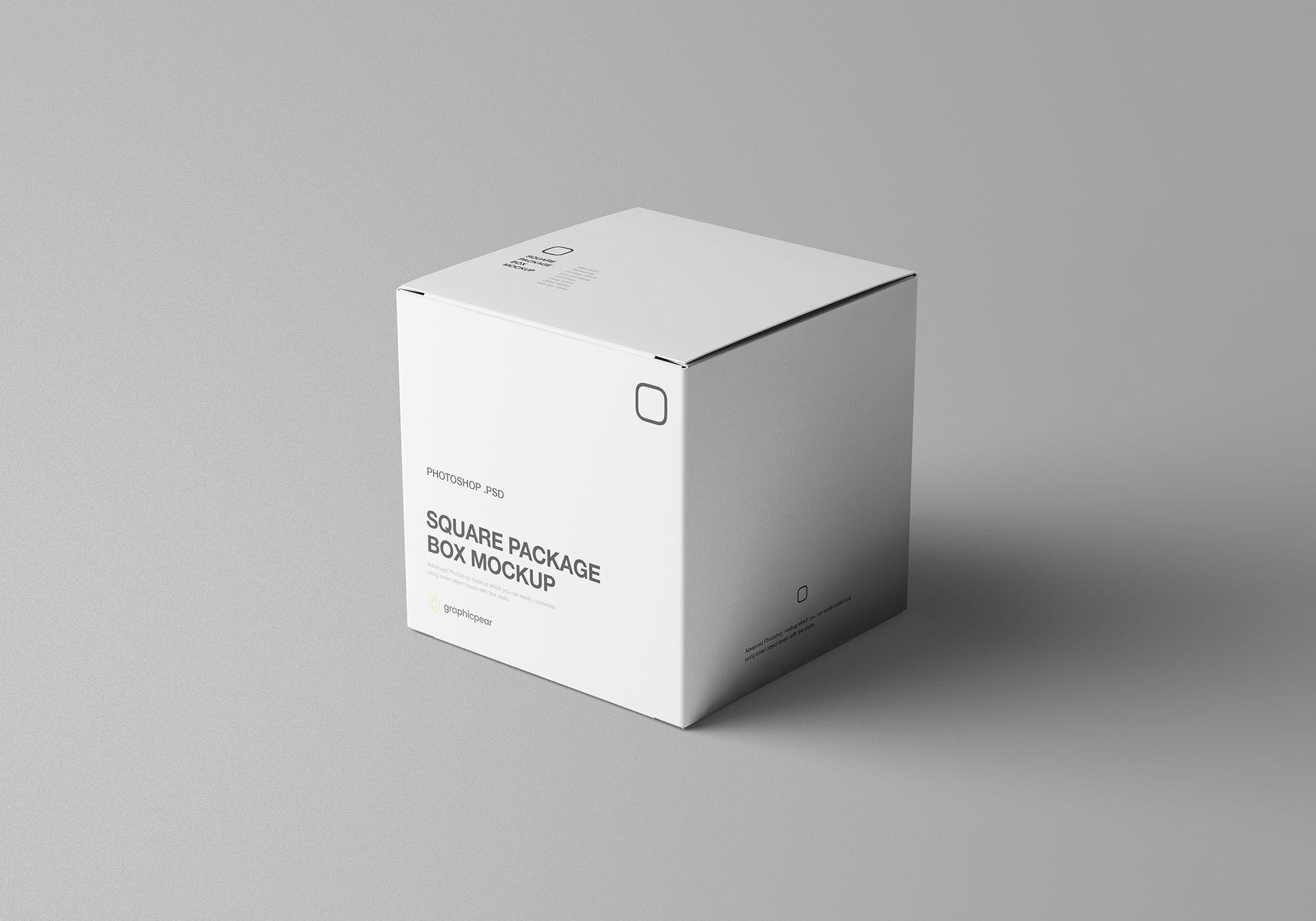 Square Package Box Mockup Box Mockup Mockup Packaging