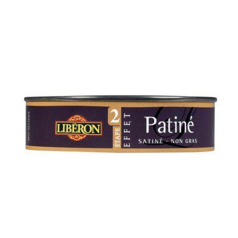 Cire à effet Patiné LIBERON, noir graphite, 015 L - 9,90 Bois - peindre sur un enduit cire