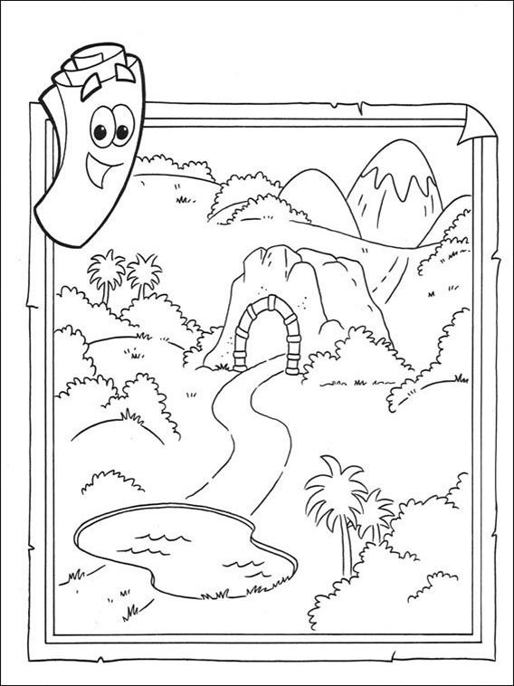 Dora The Explorer Coloring Pages 68 In 2020 Printable Coloring Book Coloring Books Dora Coloring