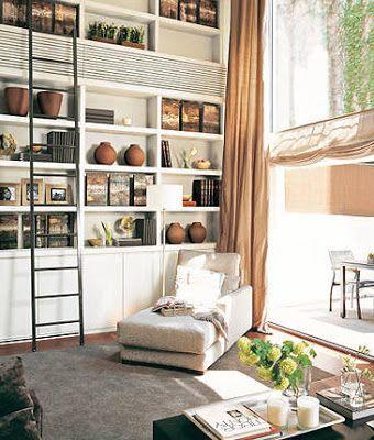 Fresia blanca Salones con biblioteca Armarios puertas y vitrinas
