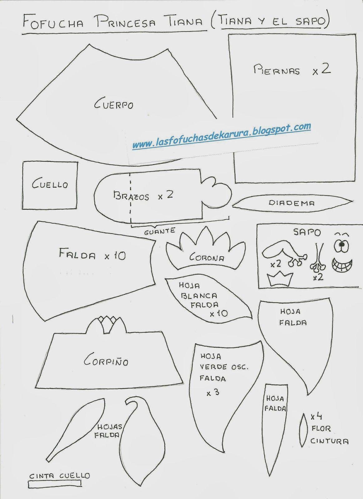 Las Fofuchas de Karura: Moldes Fofuchas Princesas Disney ...