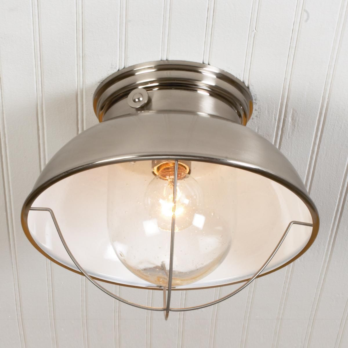 Nantucket ceiling light ceiling lights ceilings and brushed stainless steel - Stainless steel kitchen pendant light ...