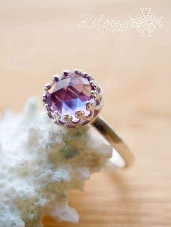 Royal Alexandrite 8mm Alexandrite Ring Stacking Gemstone Ring