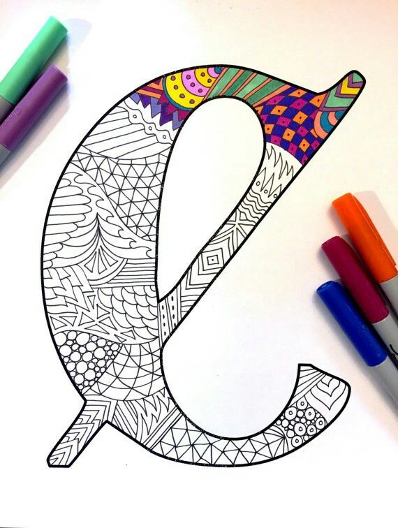 Pin By Kelin Pinheiro On Calligraphy Fonts Lettering Zentangle Coloring Books