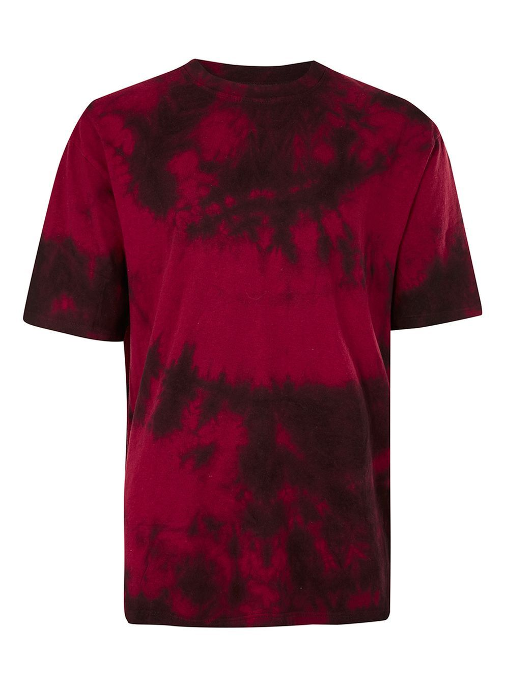 Red and Black Tie Dye Oversized T-Shirt | Black tie and Tye dye