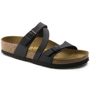Ladie's Saragossa Birko Flor White Two Strap Sandals