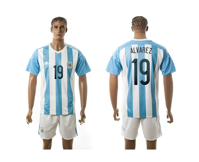 b04ccdf57 reduced sleeveusajersey 2015 2016 argentina 19 alvarez home soccer jersey  blue matt besler mens 20152016 authentic