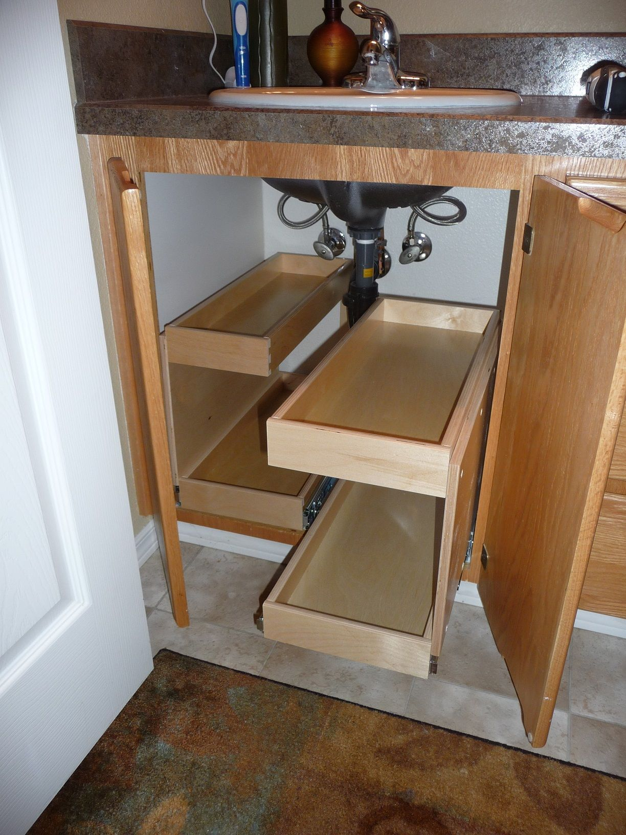Pull Out Shelves Under Bathroom Sinks Tintle Focus Board