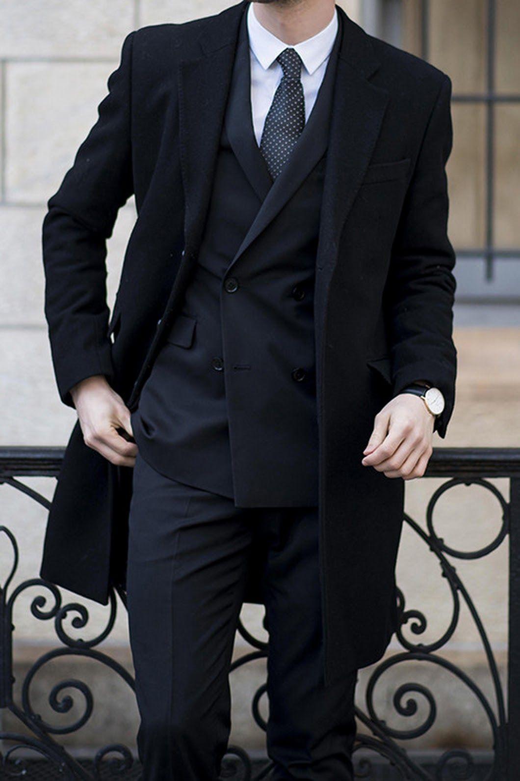 Abrigo traje azul