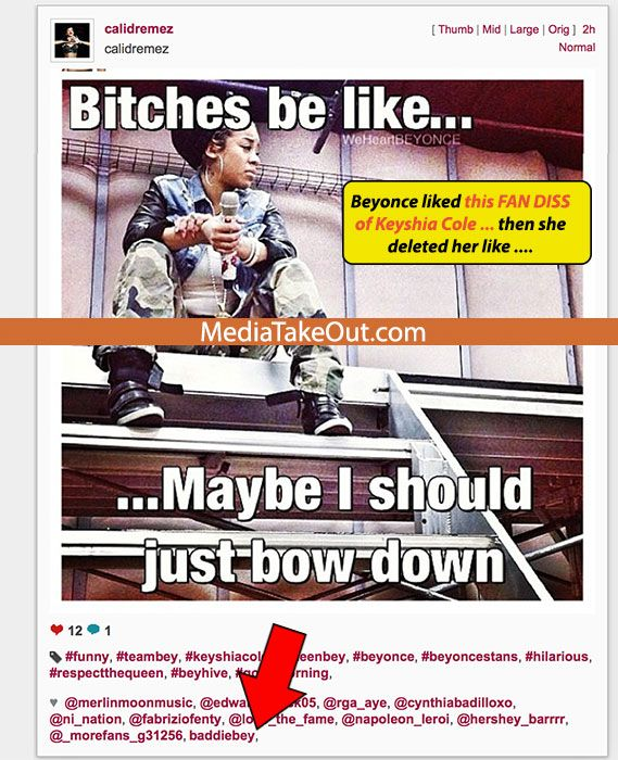 MTO WORLD EXCLUSIVE: It's Going DOWN . . . Beyonce FIGHTS BACK Against Keyshia Cole . . . On Instagram!!! (Bey Shades The F*CK Outa Keyshia) - MediaTakeOut.com™ 2013