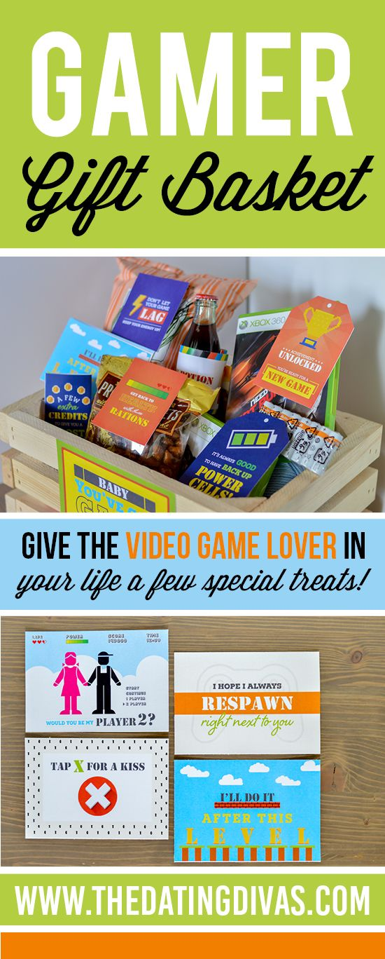 Gamer Gift Basket The Dating Divas Gamer Gifts Gifts For Gamer Boyfriend Diy Gifts For Boyfriend