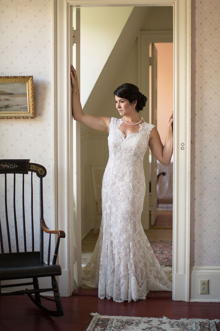 Beautiful bride in a maggie sottero londyn lace dress see photos of a summer garden wedding at the fells with an emphasis on the natural beauty and gardens with delightful catering and entertainment ombrellifo Gallery