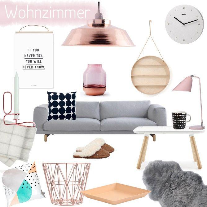 Wohnzimmer Inspiration In Kupfer, Apricot Und Rosa. BraunIkeaNeuer3 ...