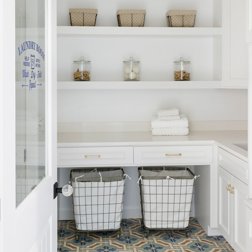 Beautiful Spanish Tiling In The Laundry Room Also Love These
