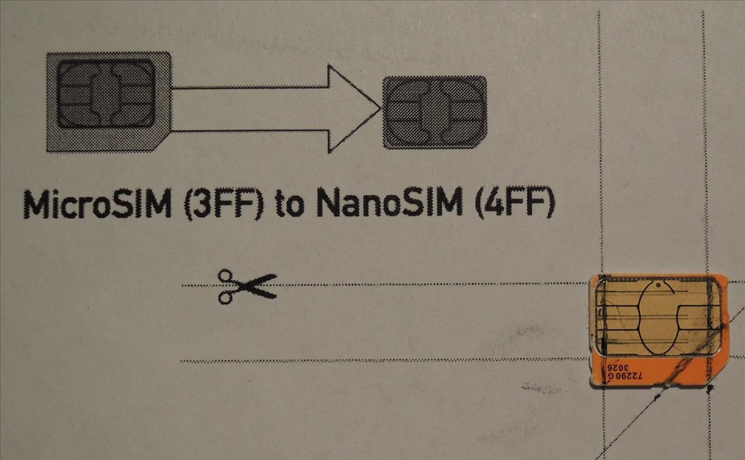 How To Convert A Micro Sim Card To Fit The Nano Slot On Your Intended For Sim Card Cutter Template Best Template Ideas