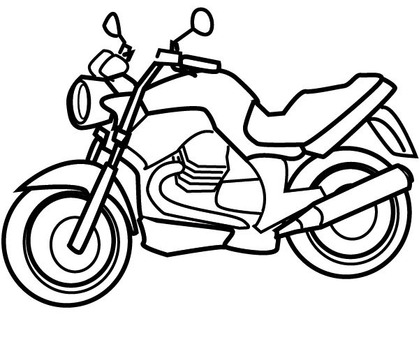 Coloring Motorbike Color Coloring Pages For Kids Coloring For Kids