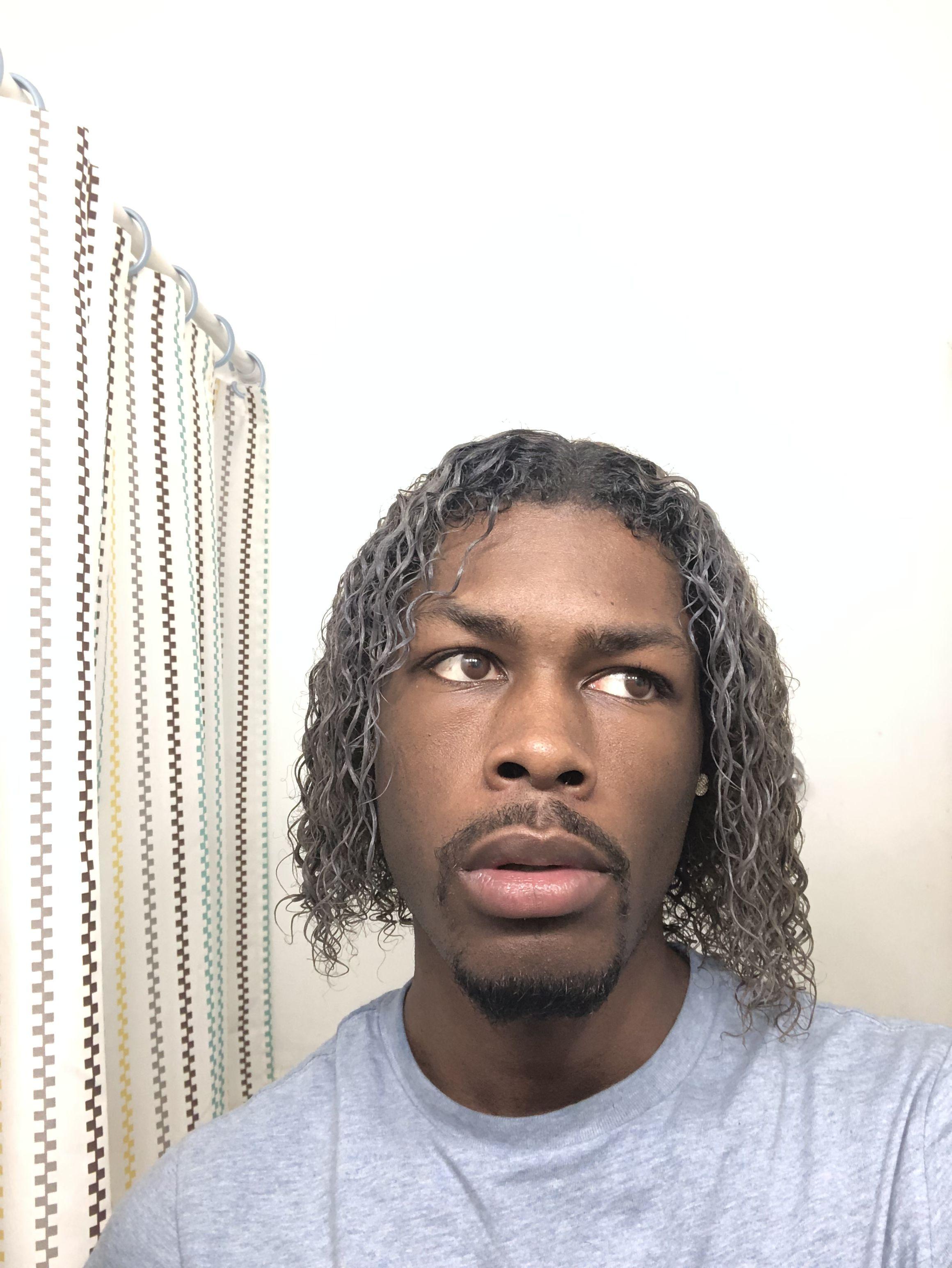 Mens Platinum White Hair Men Blonde Hair Dyed Hair Men Bleached Hair Men