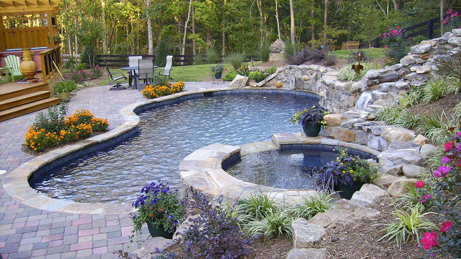Aqua Design Pools & Spas, LLC. - Natural | Pools | Pinterest | Pool ...