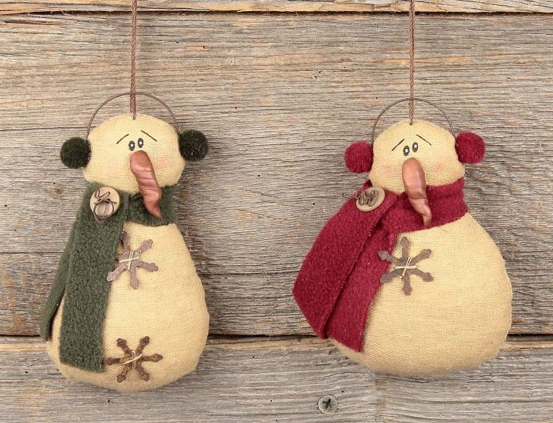 Check out the deal on Tall Snowman Ornament Set at Primitive Home - christmas decors