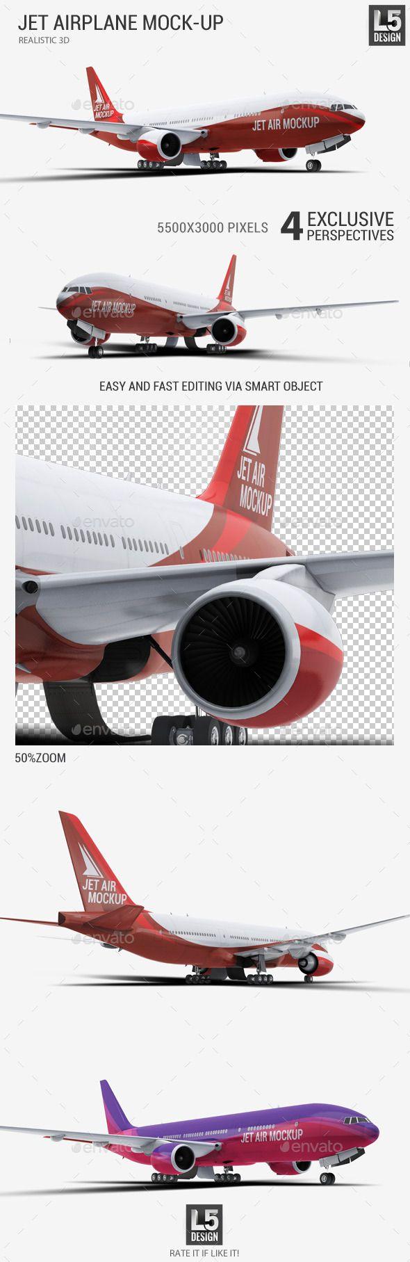 Jet Airplane Mock Up Mockup Mockup Design Airplane Design