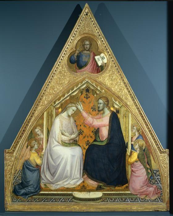 Lorenzo Monaco, Couronnement de la Vierge, vers 1388-90. Londres, galerie de l'Institut Courtauld.