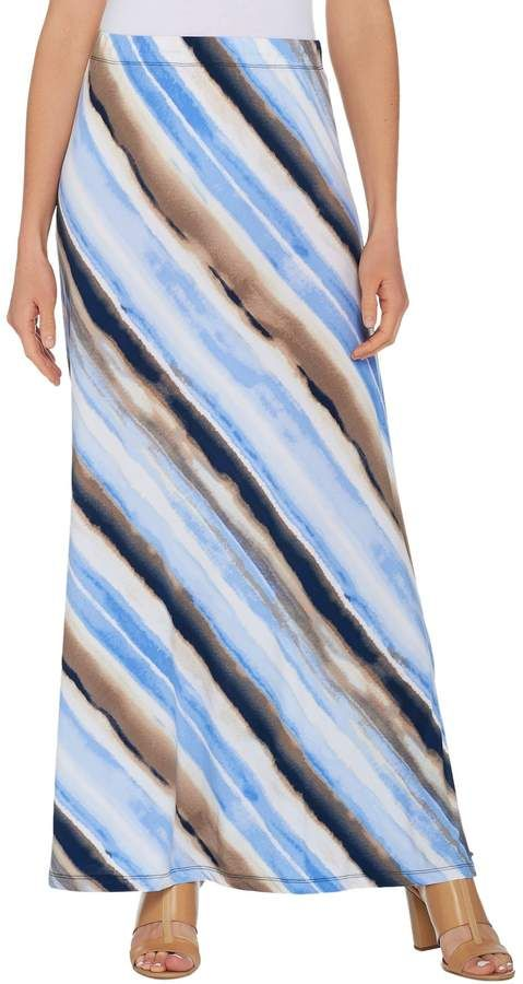 340a1cd6a Susan Graver Printed Liquid Knit Maxi Skirt - Regular Susan Graver, Qvc,  Tie Dye