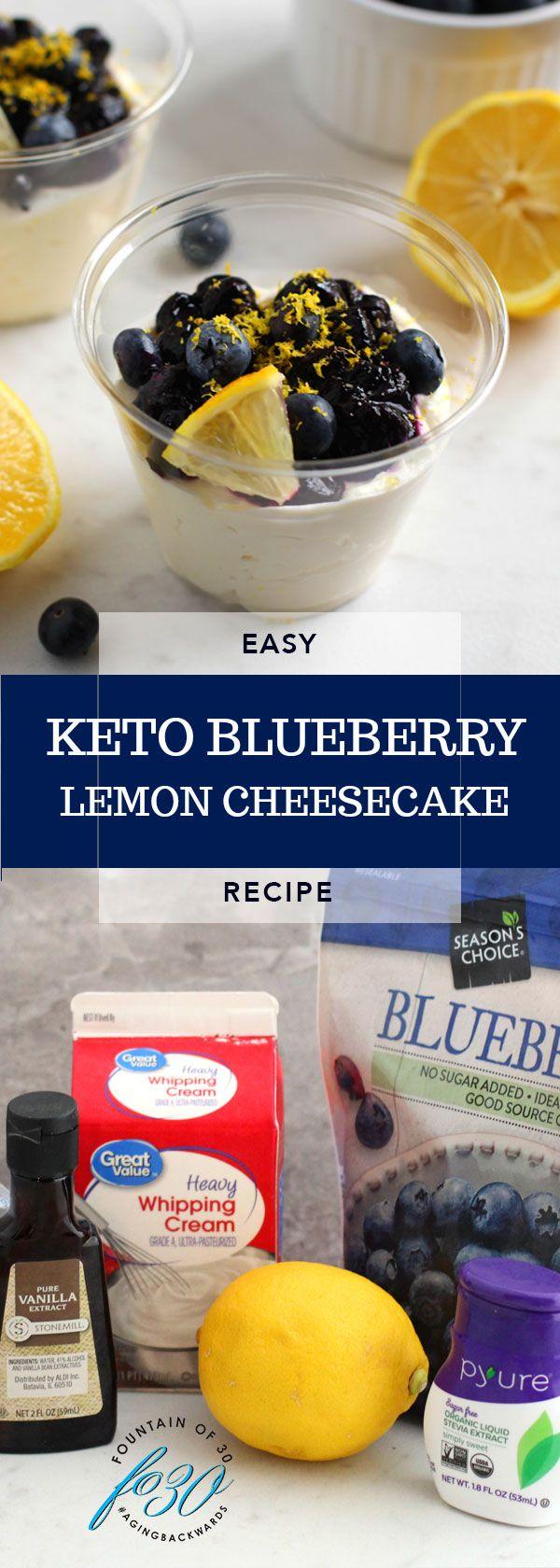 Keto Blueberry Lemon Cheesecake #lemonblueberrycheesecake