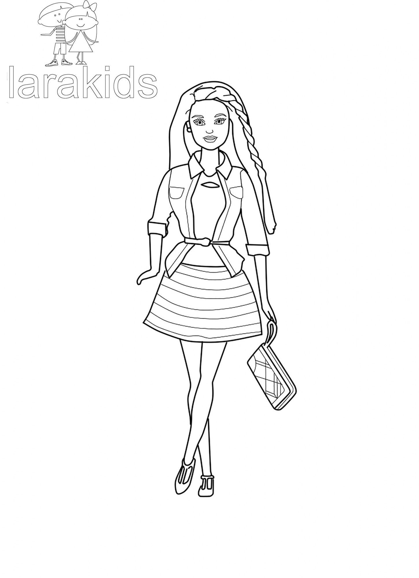Ausmalbilder Barbie : Drucken F Rbung Barbie In Einem Gestreiften Rock Ausmalbilder