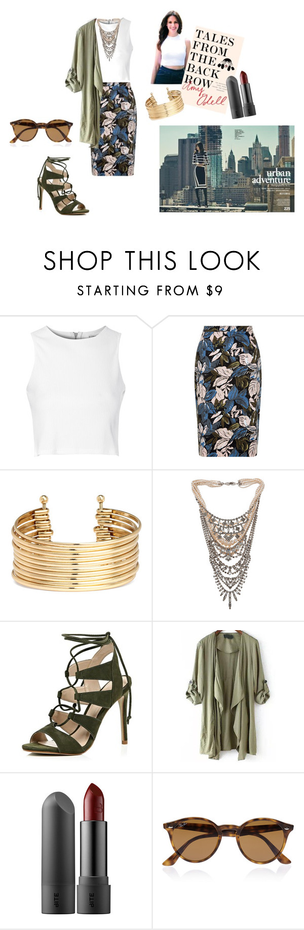 """""""Tales From The Backseat"""" by zoeebrumer ❤ liked on Polyvore featuring Glamorous, H&M, Tom Binns, River Island, Ray-Ban, StreetStyle and talesfromthebackrow"""