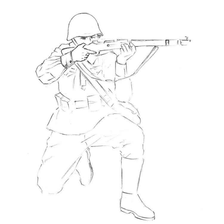 Soldat Velikoj Otechestvennoj Vojny Risunok V Polnyj Rost 11 Tys