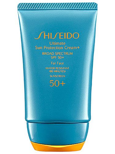 """These three letters will save your life (and skin): S-P-F. Make sunscreen an automatic part of your day, like brushing your teeth. And set up a free skin cancer screening once a year through the American Academy of Dermatology's site!"" —Polly Blitzer of Beauty Blitz Try: Shiseido Ultimate Sun Protection Cream+ Broad Spectrum SPF 50+ For Face, $35, sephora.com   - Seventeen.com"