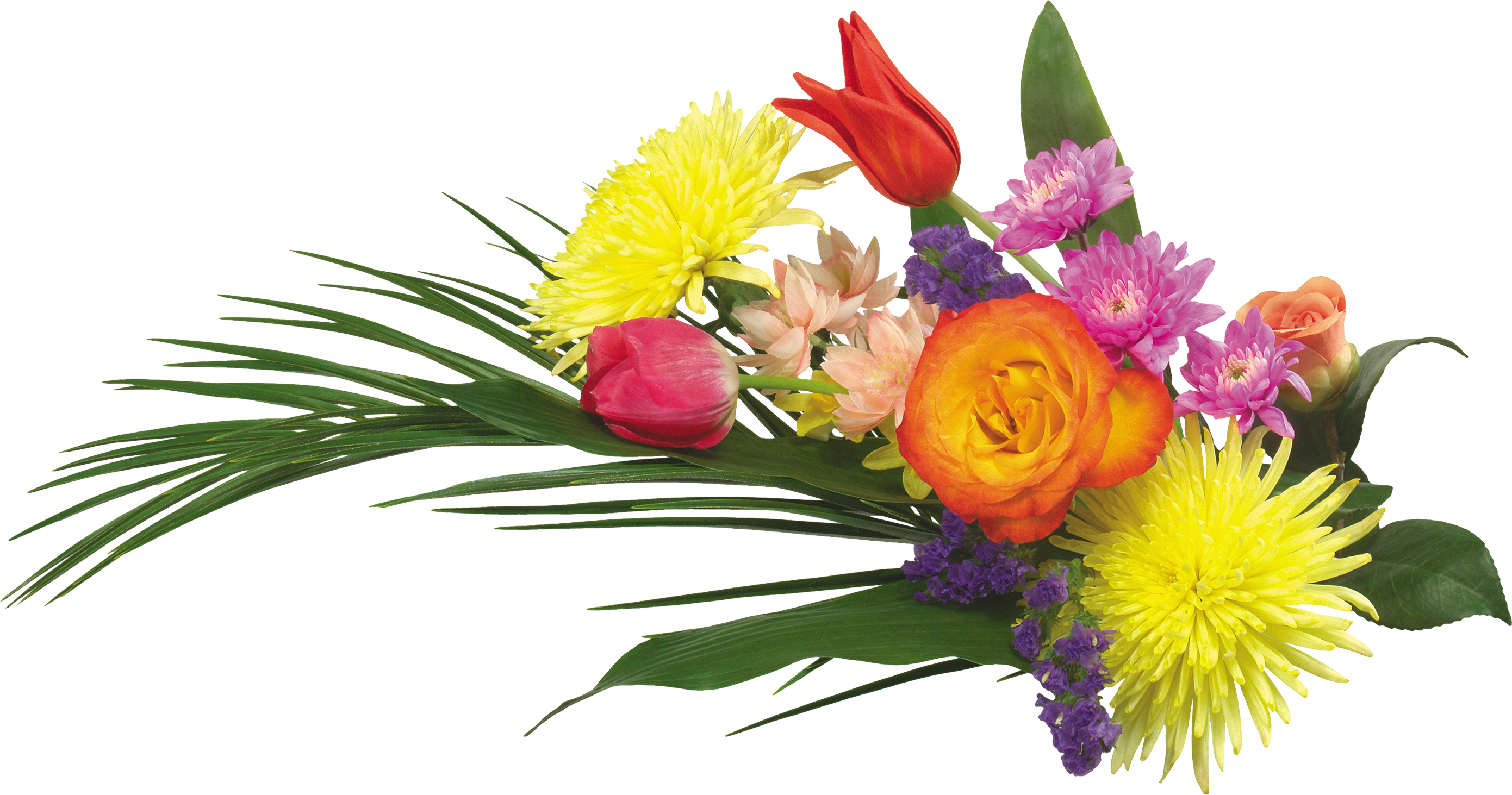 Bouquet flowers PNG image with transparent background