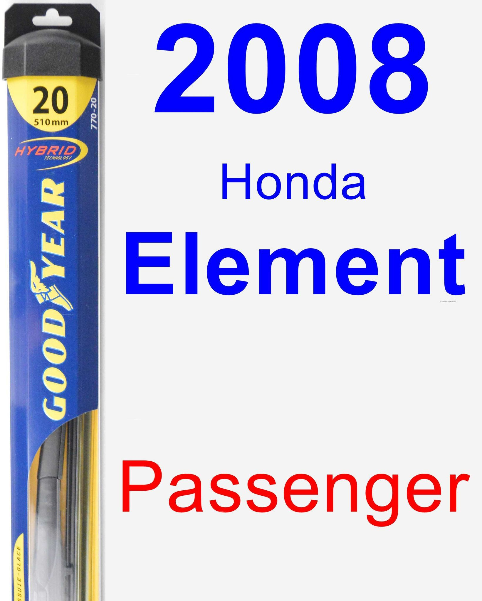 Passenger Wiper Blade For 2008 Honda Element