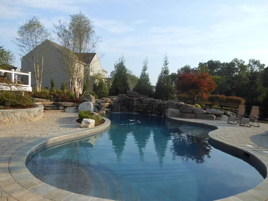 Rectangular Swimming Pools Vs Lagoon Style Pools Rectangular Swimming Pools Swimming Pools Pool Patio