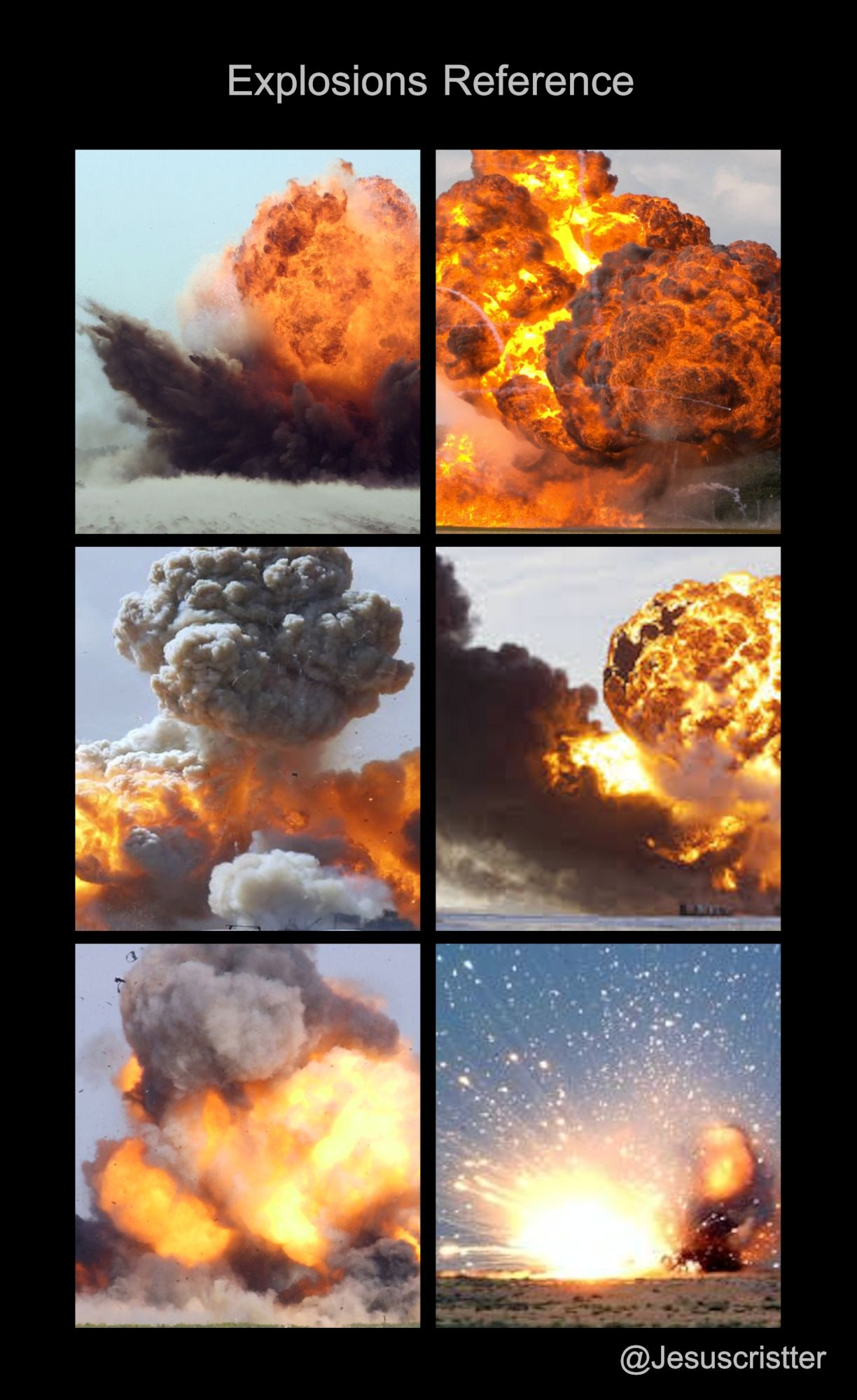 reference for the explosions tutorial | Digital painting tutorials ...
