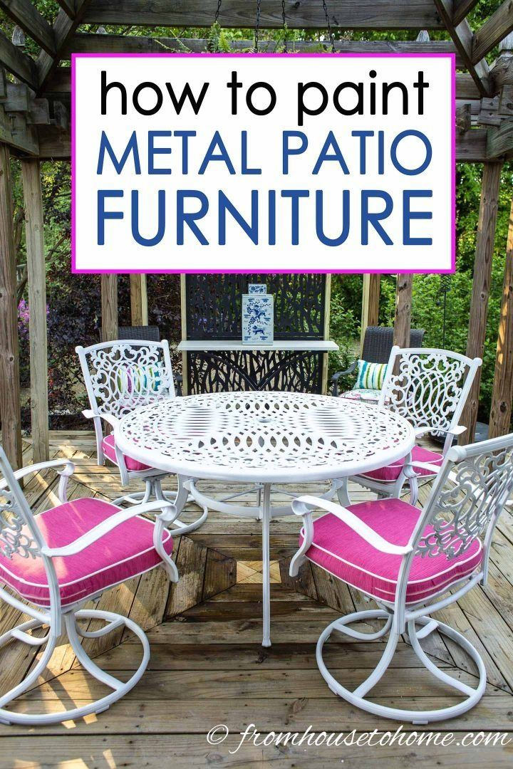 How to paint metal patio furniture modern design 8