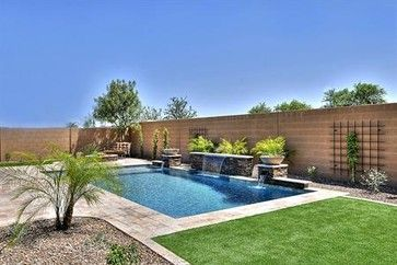 Loving This Pool The Del Mar Model In Phoenix Arizona Backyard Pool Landscaping Outdoor Remodel Arizona Backyard