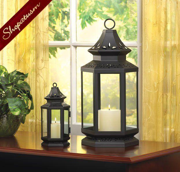 Large Black Stagecoach Candle Garden Lantern Centerpiece Wholesale Lanterns Large Lanterns
