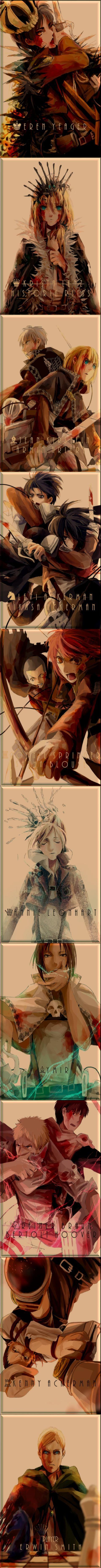Shingeki no kyojin//Attack on titan// Ataque a los titanes