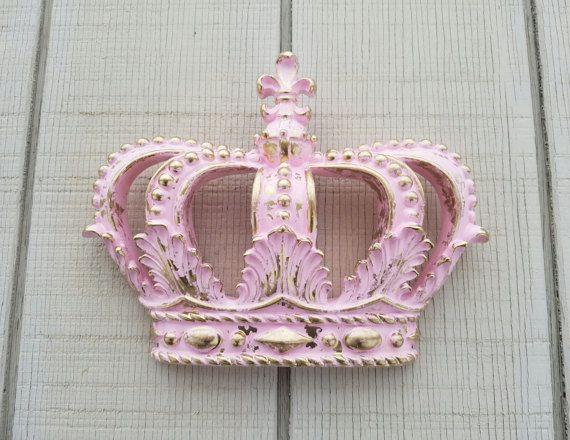 Pink Crown Wall Decor Nursery Wall Decor Crib by AshlynColelee ...