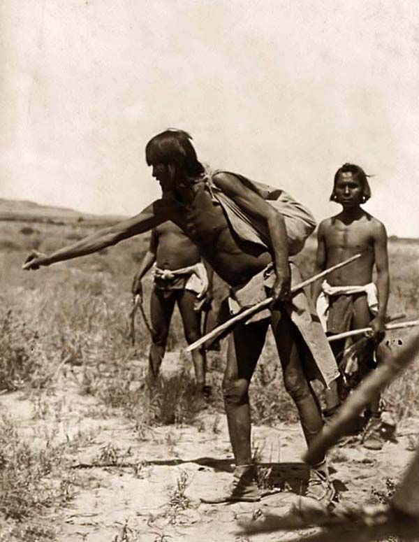 Hopi Indian priests hunting snakes. By Edward S. Curtis ...