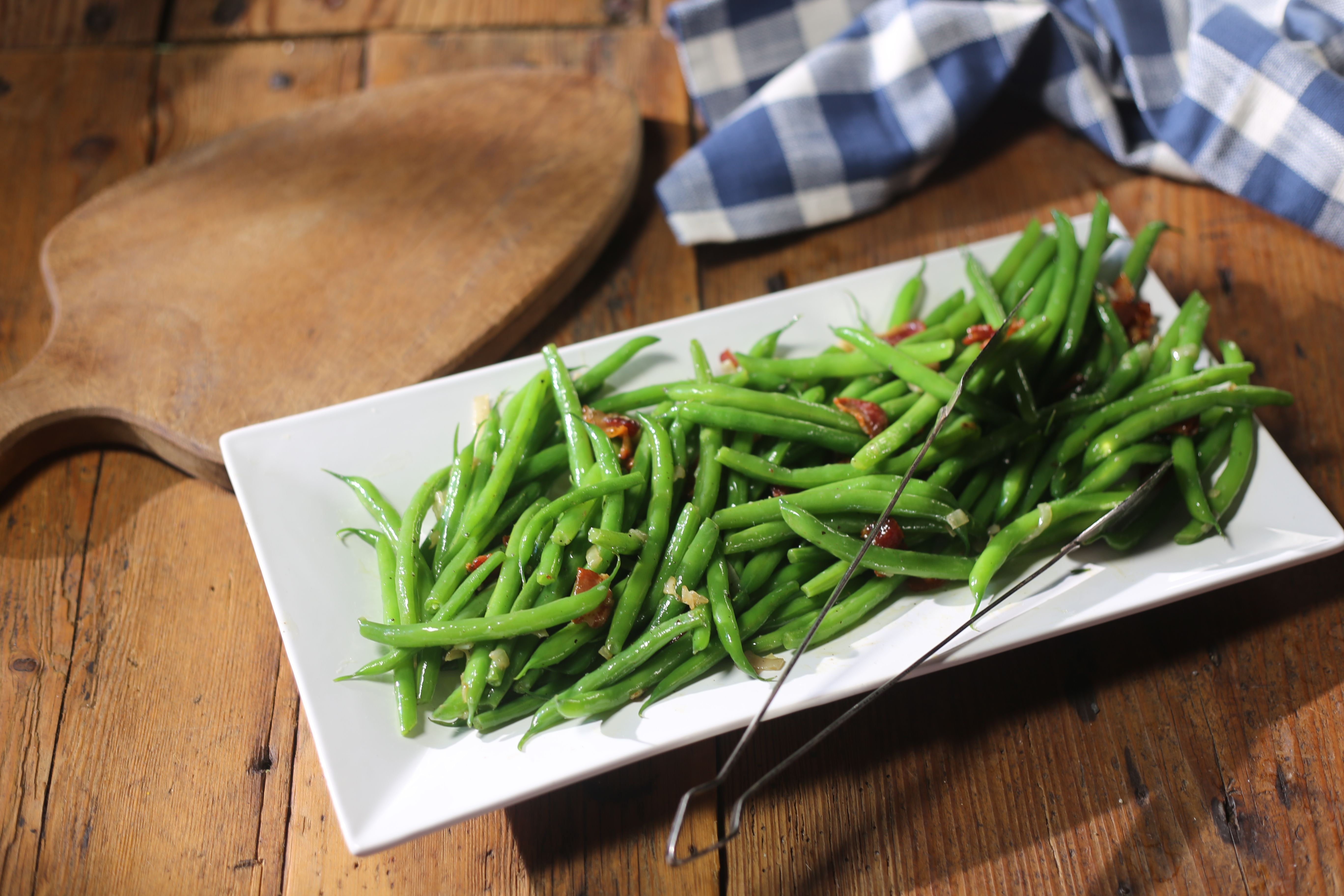Green Beans with Bacon Recipe Veggie dishes, Green