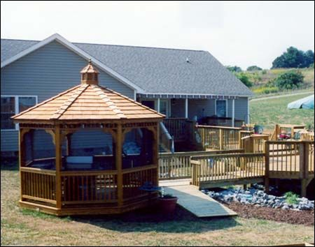 Treated Pine Single Roof Octagon Gazebos Love To Have This Attached My Deck